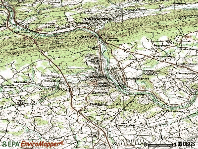Slatington topographic map