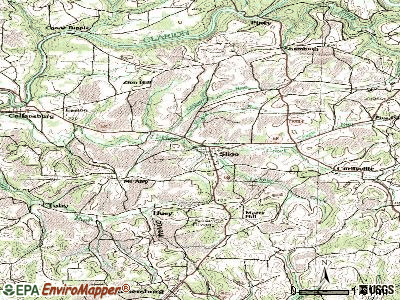 Sligo topographic map