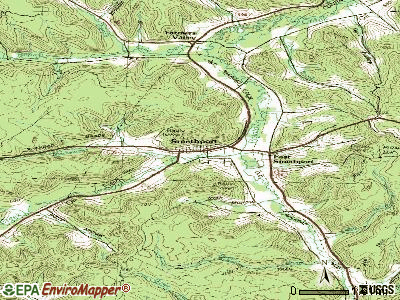 Smethport topographic map