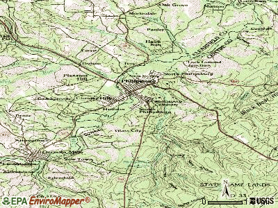 South Greensburg topographic map