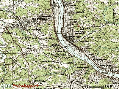 South Heights topographic map