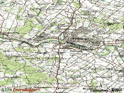 South Pottstown topographic map