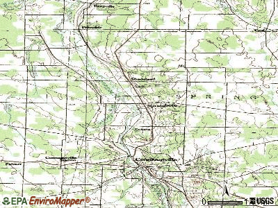 Springboro topographic map