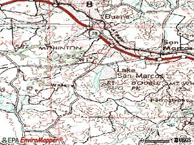 Lake San Marcos topographic map