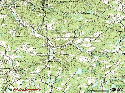 Starrucca topographic map
