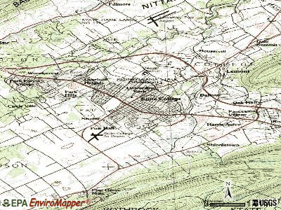 State College topographic map