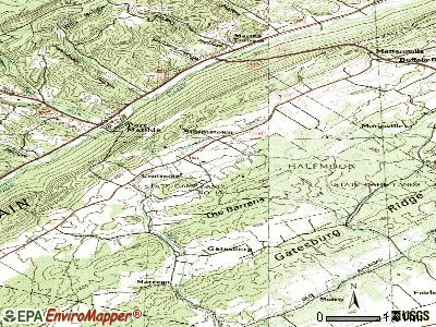 Stormstown topographic map