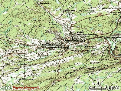 Stroudsburg topographic map