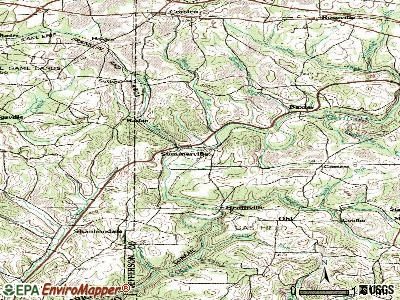 Summerville topographic map