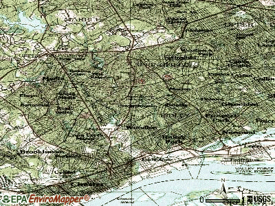 Swarthmore topographic map
