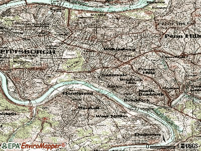 Swissvale topographic map