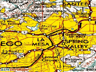 La Mesa topographic map