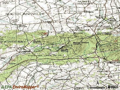 Timber Hills topographic map