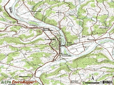 Towanda topographic map