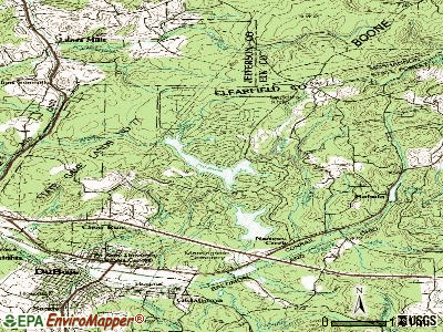 Treasure Lake topographic map