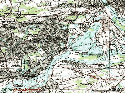 Tullytown topographic map