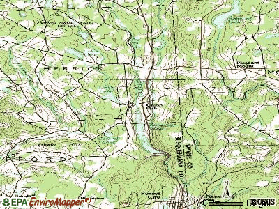 Union Dale topographic map