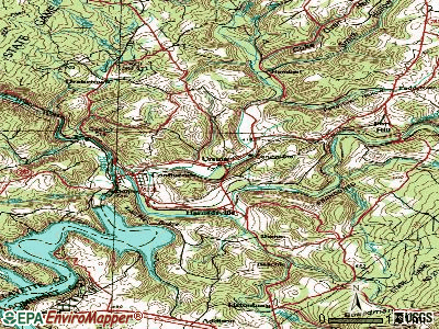 Ursina topographic map