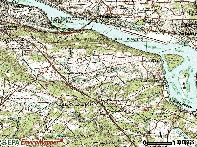 Valley Green topographic map