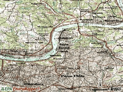 Verona topographic map