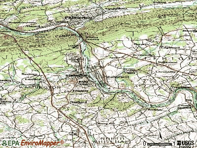 Walnutport topographic map