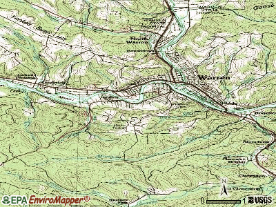 Warren South topographic map