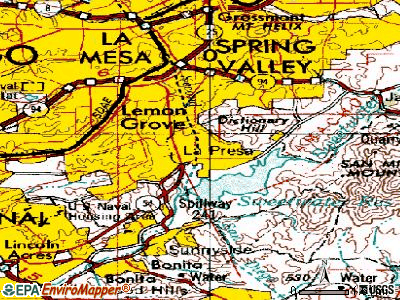 La Presa topographic map