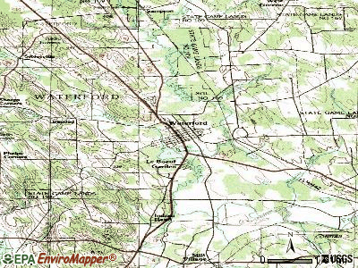 Waterford topographic map