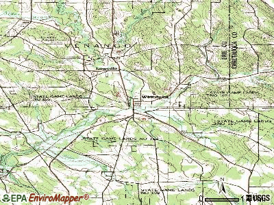 Wattsburg topographic map