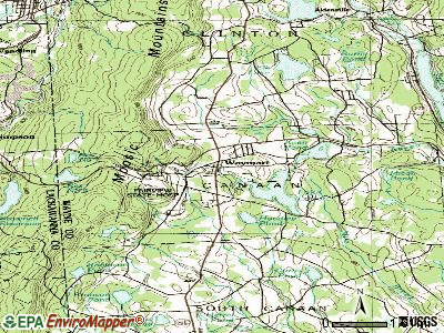 Waymart topographic map