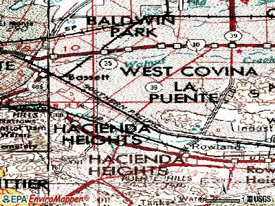 La Puente topographic map