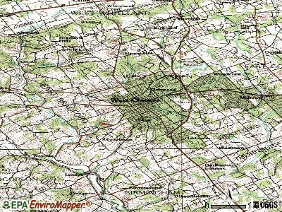 West Chester topographic map