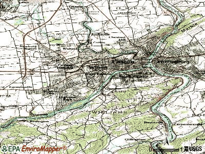West Easton topographic map