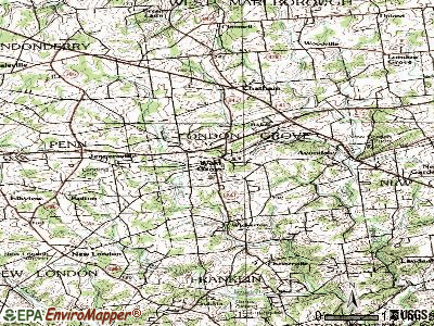 West Grove topographic map