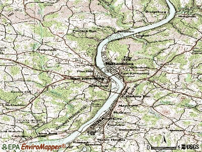 West Kittanning topographic map