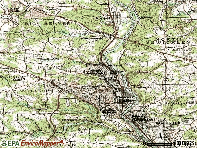 West Mayfield topographic map