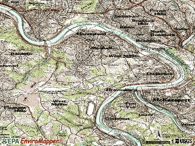 West Mifflin topographic map