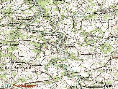 West Newton topographic map