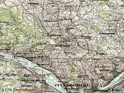 West View topographic map