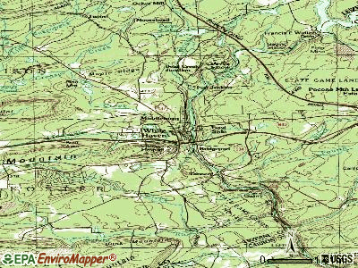 White Haven topographic map