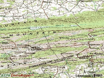 Wilburton Number One topographic map