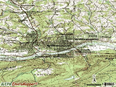 Williamsport topographic map