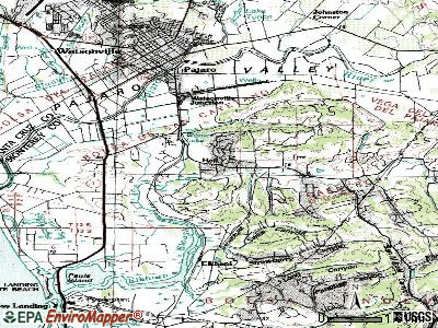 Las Lomas topographic map