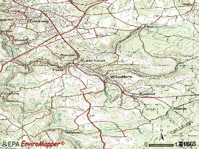 Windber topographic map