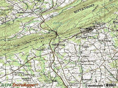 Wind Gap topographic map