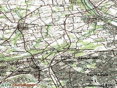 Woodbourne topographic map