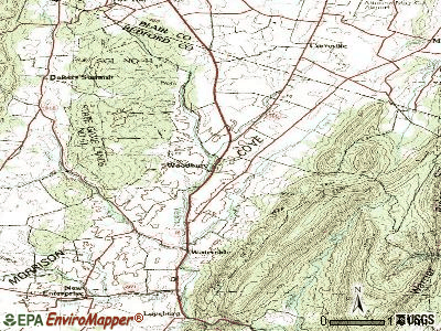 Woodbury topographic map