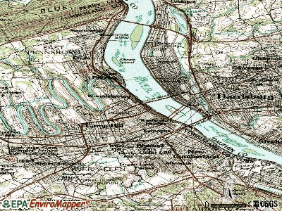 Wormleysburg topographic map