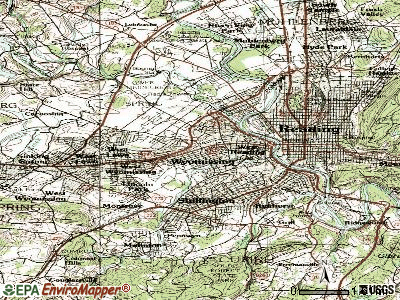 Wyomissing topographic map