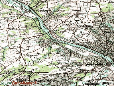 Yardley topographic map